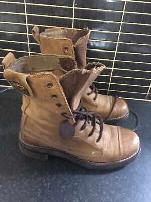 superdry union boots size 5 leather vgc