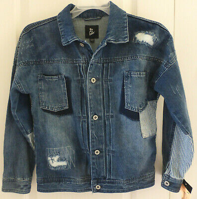 Boys Blue Jean Distressed Denim Jacket by ART CLASS, Blue, Size XL (16), NWT