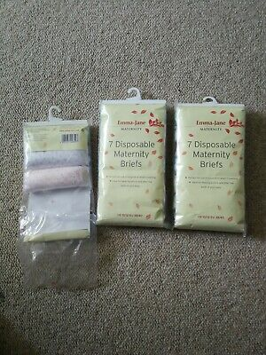 Emma-Jane Maternity Disposal Briefs Size 10-12 17 Pairs Postpartum After Birth