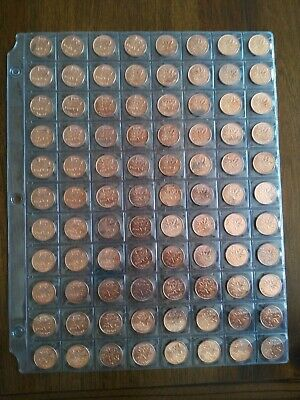 Lot of 88 Canadian 1961 AU/UNC Red Small Penny, No Reserve! (Lot #1)