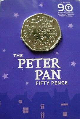 Peter Pan 50p Great Ormond Street Hospital Special Edition Coin 2019 B/U