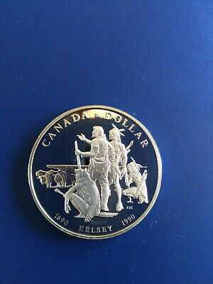 1990 Canadian Silver Dollar ($1), No Reserve!