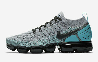 Nike Air VaporMax Flyknit 2 Mens Size 9 White Black Gray Dusty Cactus 942842 104