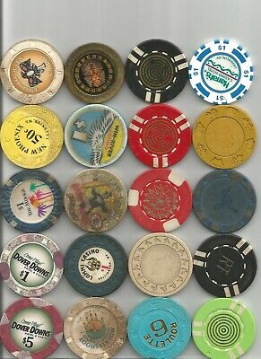 (20) $5,luxor,circus circus.mirage obsolete casino chips las vegas nv lot