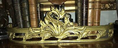 Antique Gilt Bronze French Empire Neoclassical Bed Canopy