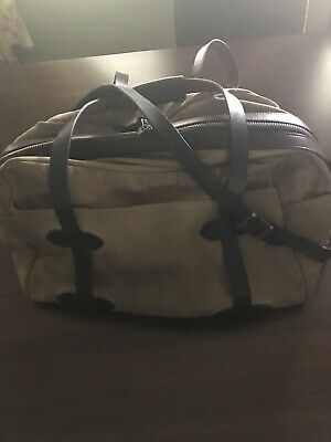Filson Waxed Canvas Weekender Bag With Leather Trim