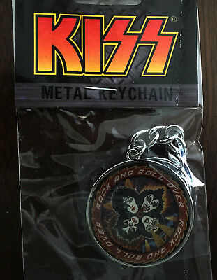 Kiss keychain licensed nos key chain rock and roll over no longer made
