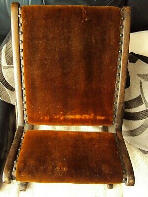 "antique small rocking chair 24"" 16"" see photo's Gout Stool"