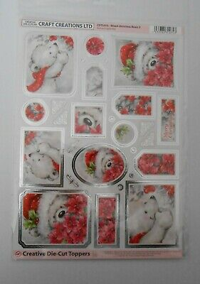 Craft Creation Christmas Bears S2 Toppers For Cards & Craft