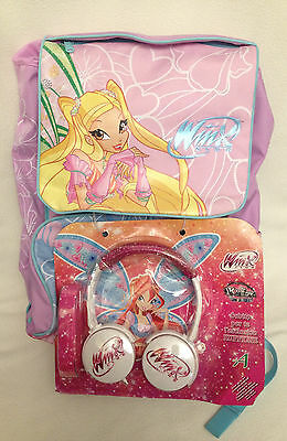 """WINX CLUB """"STELLA"""" School EXTENSIBLE BACKPACK -RARE- LIMITED EDITION + Earphones"""