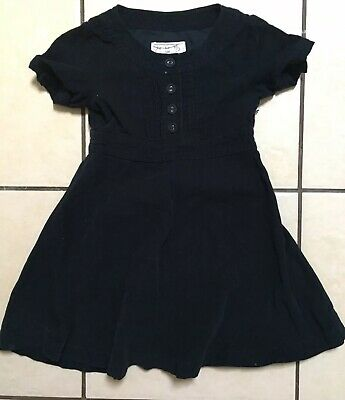 Girls Joules Navy Fine Corduroy Dress Age 4 Lovely Condition
