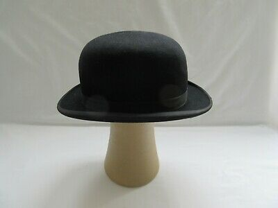 Vintage used Dunn & Co London bowler hat for prop fancy dress incl p&p