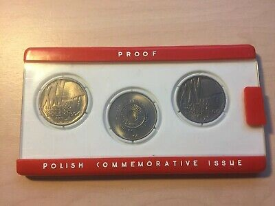 Polish Coin Set Commemorative Issue Poland 3 Coins Zloty 10zt