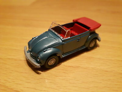 Wiking VW  Kafer Cabrio blaumetallic/rot HO 1:87 Text lesen!