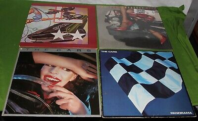 THE CARS 4 LP Vinyl RECORD Collection LOT