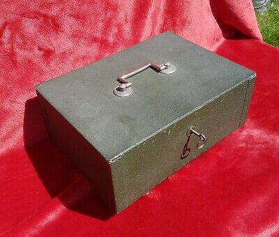 A Vintage Cash Tin With Original Key