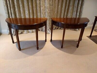 Antique Mahogany Pair of D Ends and Dining Table Sheraton Revival 208 cm Wide