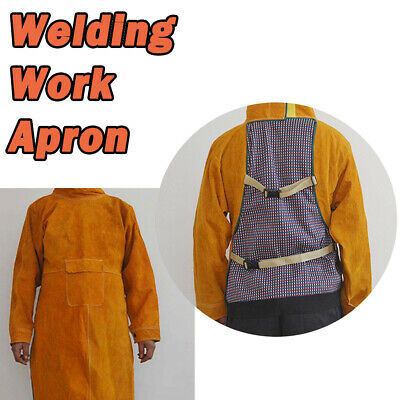 Leather Welding Apron Welders Safety Sleeves Aprons Sleeve Body Protection Heat