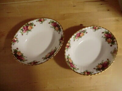 2 Royal Albert Old Country Roses serving bowl s 1st quality