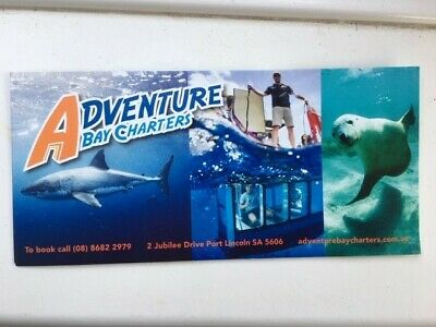 Shark Diving/seal voucher, Adventure Bay Charters, Port Lincoln, Australia.