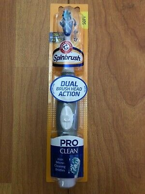 Arm & Hammer Spinbrush Pro Clean Powered Soft Toothbrush GRAY