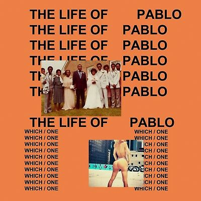 """Kanye West The Life Of Pablo Poster Wall Art Home Decor Photo HD Print 24x24"""""""