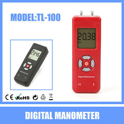 New Pressure Gauge HVAC Gas Pressure Tester Manometer Digital Air Pressure Meter