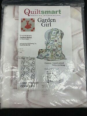 Printed Interfacing ~ GARDEN GIRL ~ by Quiltsmart NOS QUILT SMART