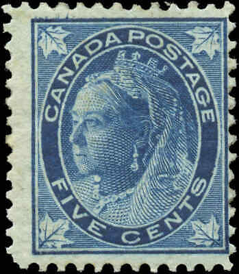 1897 Mint Canada Scott #70 5c Maple Leaf Issue Stamp Hinged