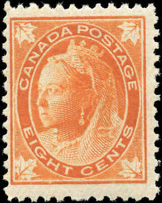 1897 Mint Canada Scott #72 8c Queen Victoria Issue Stamp Hinged