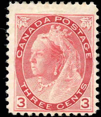 1898 Mint Canada Scott #78 3c Queen Victoria Numeral Issue Stamp Hinged