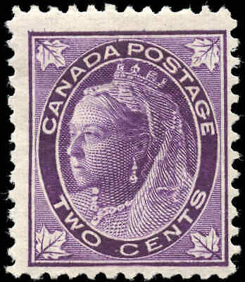 1897 Mint Canada Scott #68 2c Maple Leaf Issue Stamp Hinged