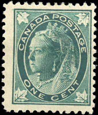 1897 Mint Canada Scott #67 1c Maple Leaf Issue Stamp Hinged