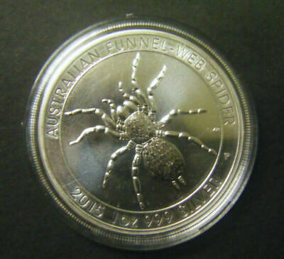 2015 Australian $1 1oz Funnel Web Spider Silver Bullion coin .999 in Capsule