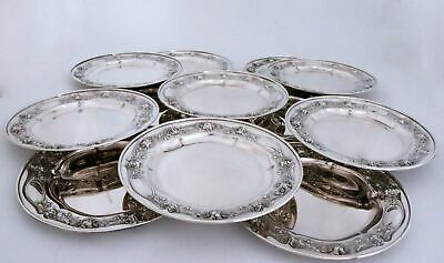 Gorham Sterling Silver Bread Plates Buttercup and Marguerite Daisy Flowers