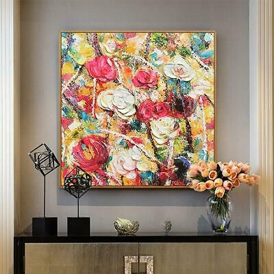 VV407 Handpainted abstract oil painting Romantic flower color art on canvas 36''