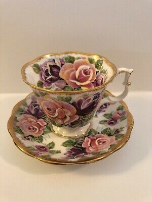 Royal Albert Tea Cup and Saucer Bone China Summer Bounty Series Amethyst England