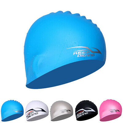 Silicon Swimming Cap For Adult Kids Bathing Water Sports 6 Colors Unisex Hat