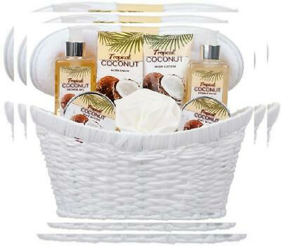 8 Piece Deluxe Tropical Coconut Body & Bath Gift Set - Includes all Bathing...