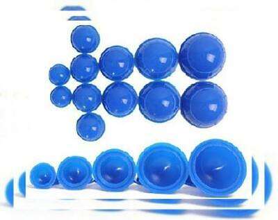 Esmartlife 12 Cups Silicone Medical Vacuum Massage Cupping 3*3inch, blue