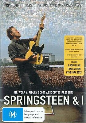 SPRINGSTEEN & And I - Bruce Springsteen Music Documentary DVD NEW & SEALED