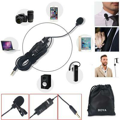 BOYA BY-M1 Lavalier Lapel Clip-on Condenser Microphone For iPhone Camcorder BS