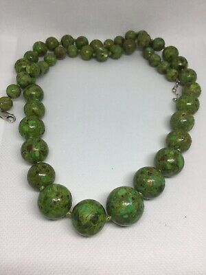 """Vintage Chinese Turquoise Large Bead Necklace 30"""" Long 138 Grams 16-19mm Beads"""