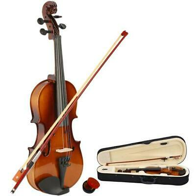 US New Student Instruments 1/2 Size Acoustic Violin + Case + Bow + Rosin Natural