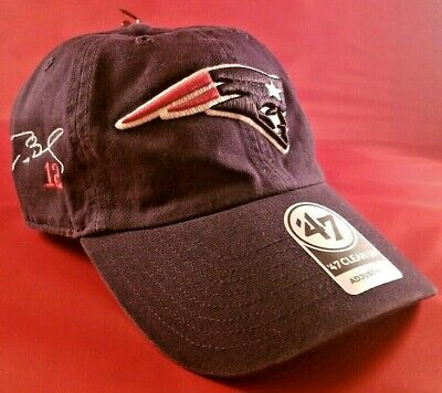 new products d09e4 88fd5 NWT Tom Brady  12 New England Patriots 47 CLEANUP adjustable hat cap 47  Brand