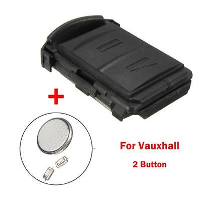 NEW 2 BUTTON Remote Key Fob Case Repair Kit For Vauxhall Opel Corsa