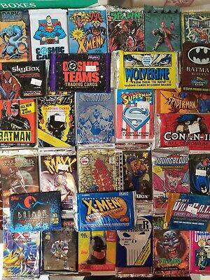 15 Comic card sealed packs! Spider-man, X-men, Batman, Wolverine, and more!