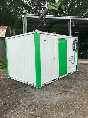 Container/security office fully insulated with electrics 13ft x 9ft