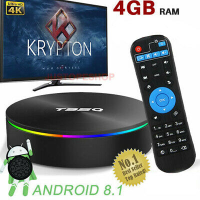 2019 T95Q ANDROID 8 1 TV Box 4G+64G Dual WIFI LAN Ethernet 1000M