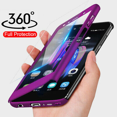 For Samsung Galaxy J7 Prime J5 J3 360°Full Protect Tempered Glass+PC Case Cover